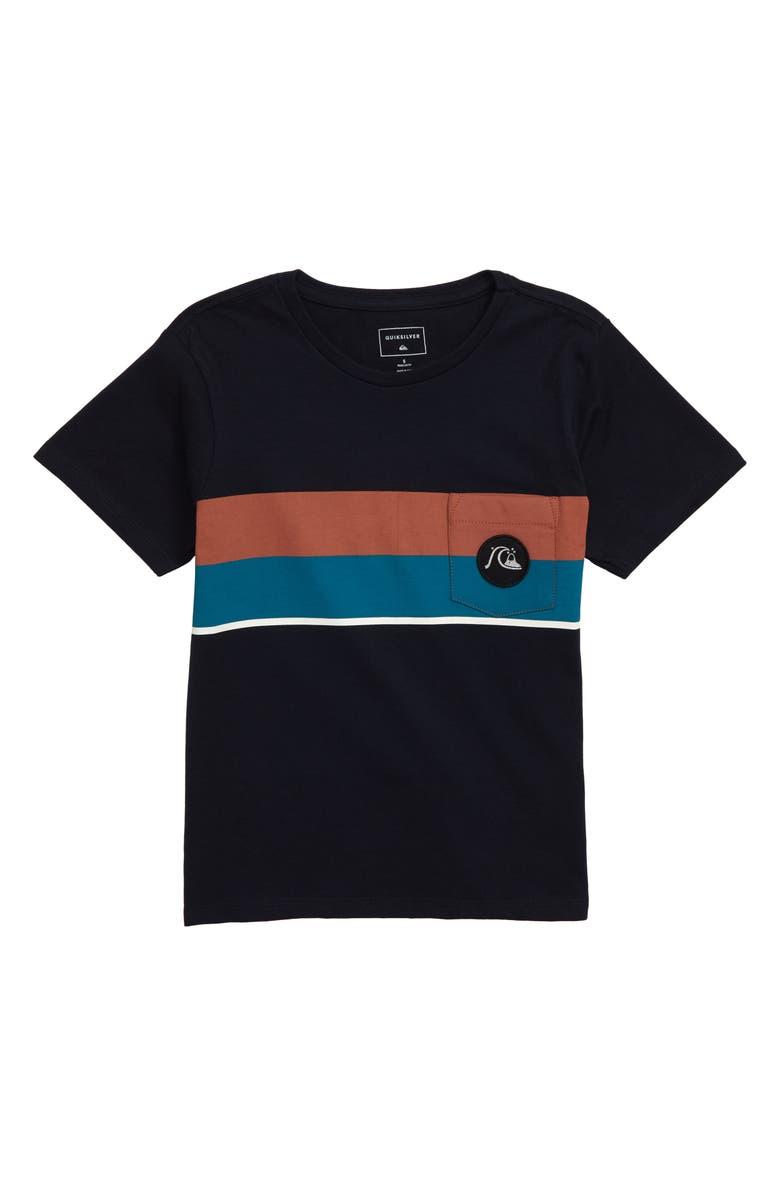 QUIKSILVER Multiply Stripe T-Shirt, Main, color, SKY CAPTAIN
