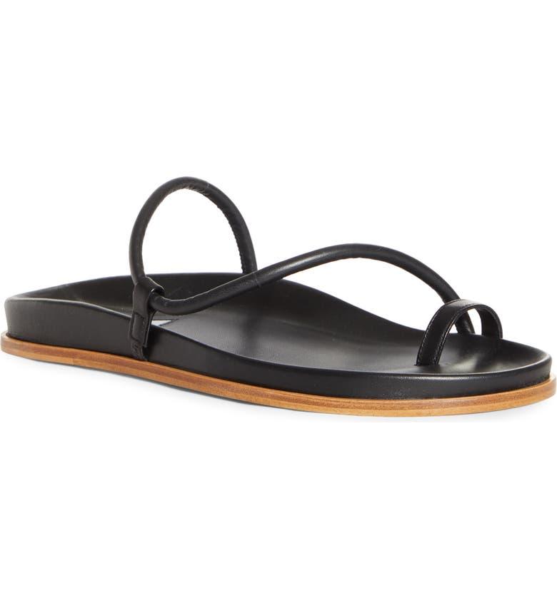EMME PARSONS Bari Fussbett Toe Loop Slide Sandal, Main, color, 001