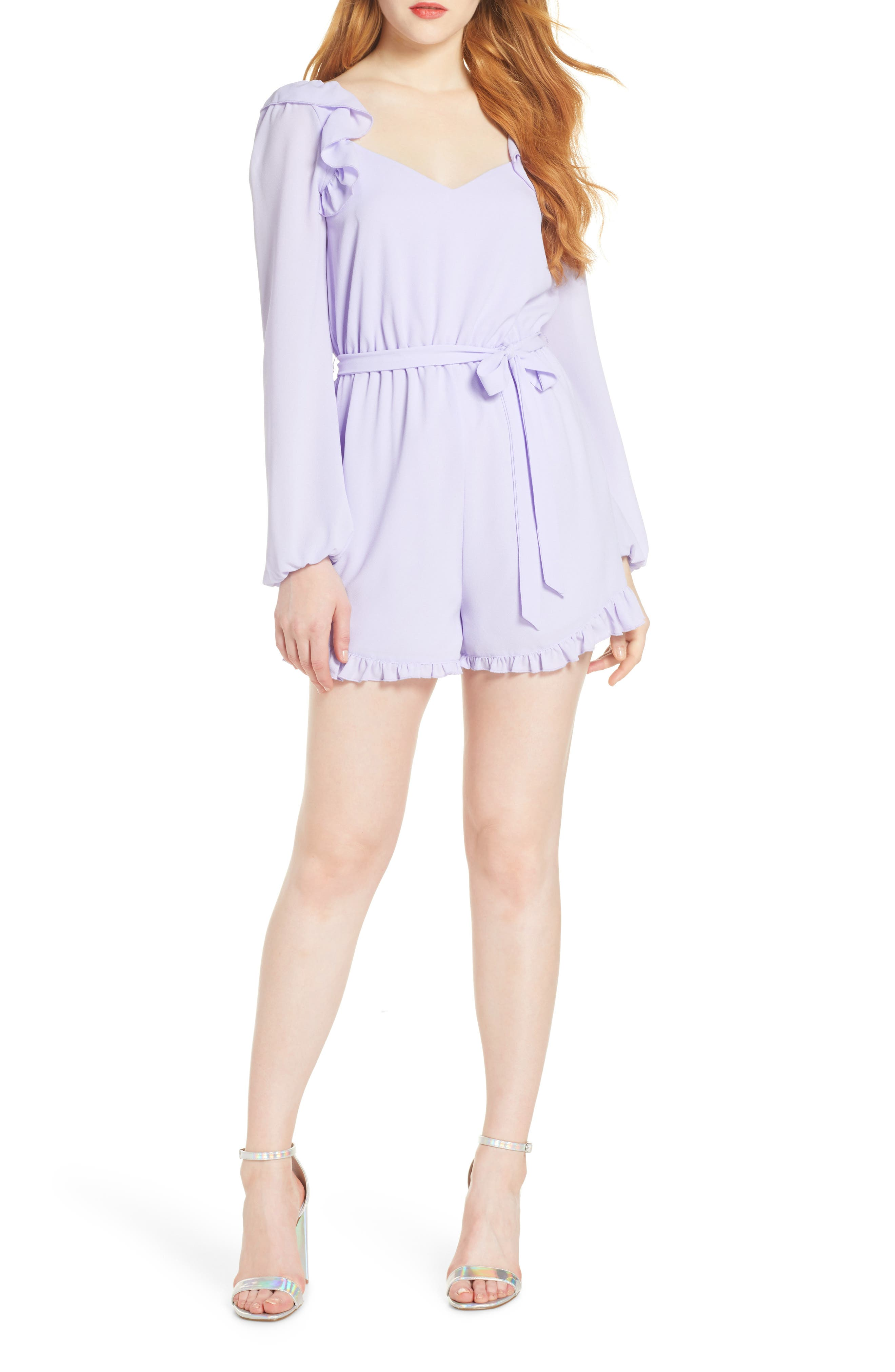 ,                             Lovely As Can Be Gingham Romper,                             Main thumbnail 9, color,                             500