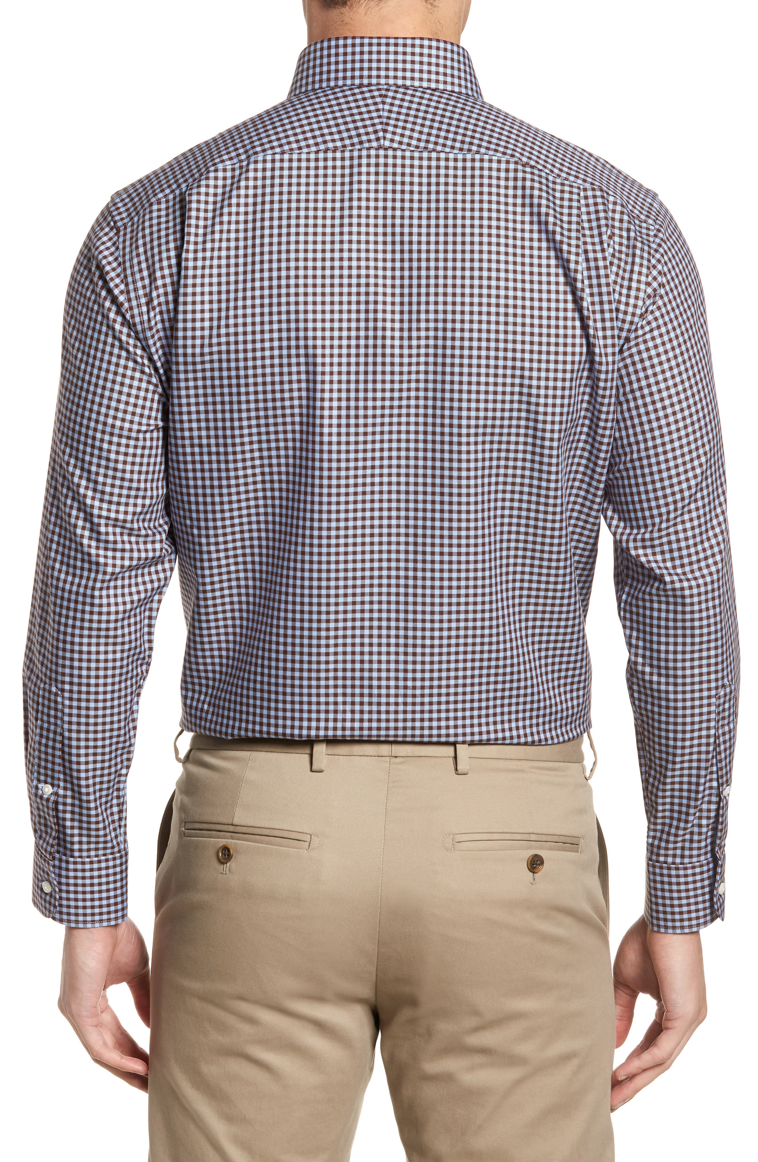 ,                             Traditional Fit Non-Iron Gingham Dress Shirt,                             Alternate thumbnail 43, color,                             211