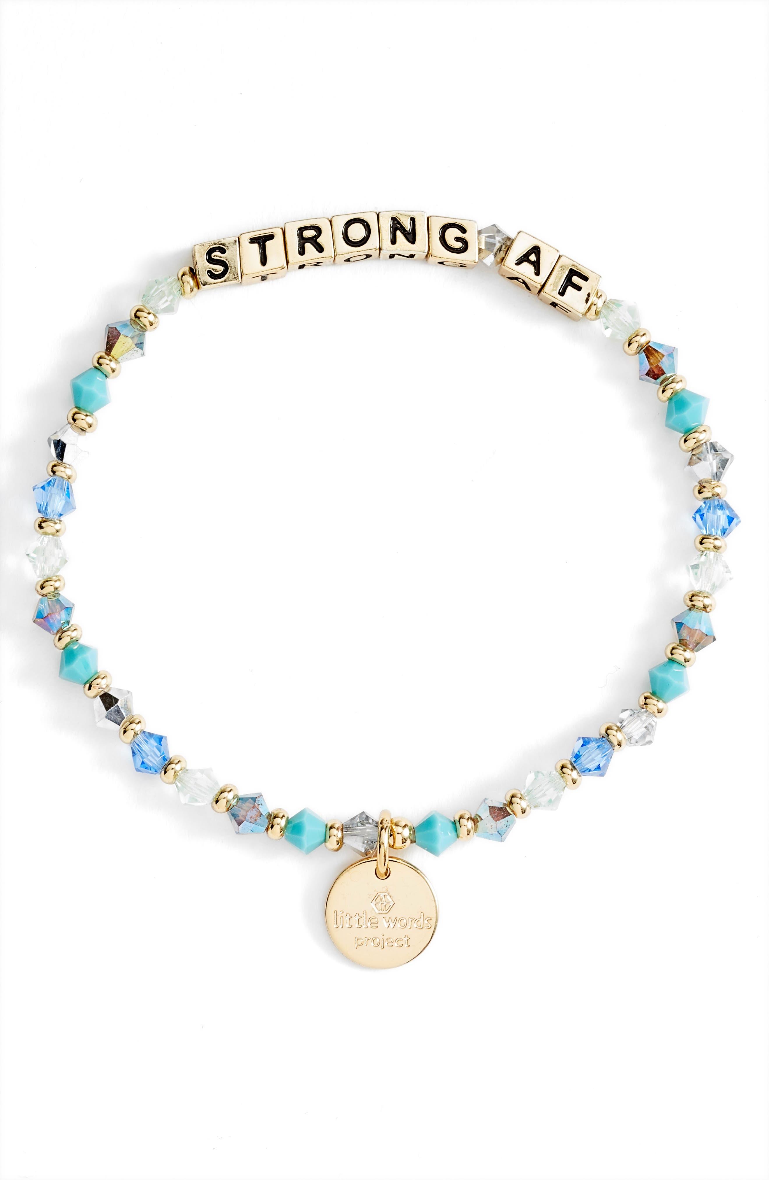 Strong Af Beaded Stretch Bracelet