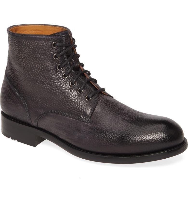 MAGNANNI Pierce Plain Toe Boot, Main, color, GREY LEATHER