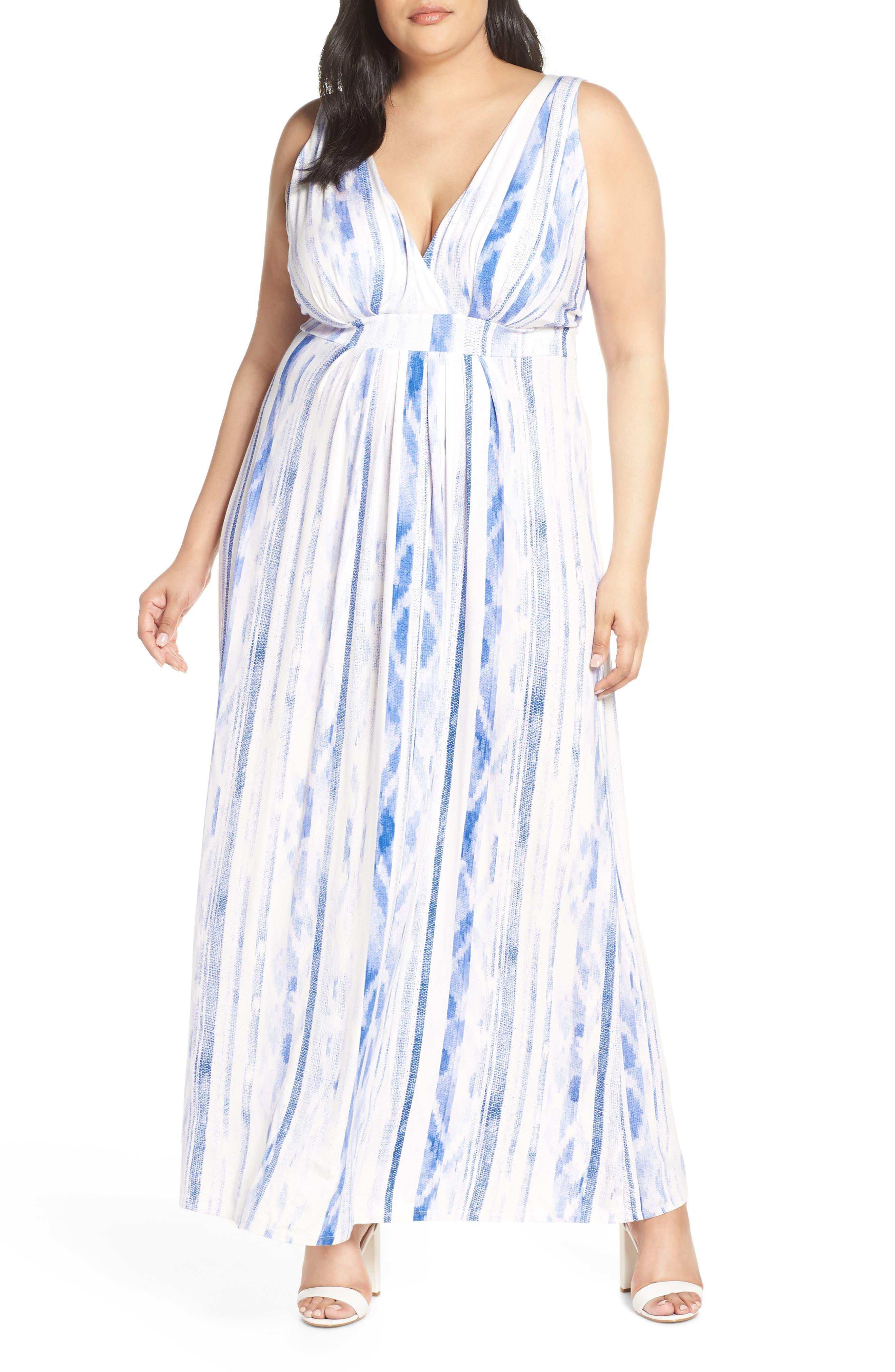 Plus Size Lemon Tart Chloe Maxi Dress, White