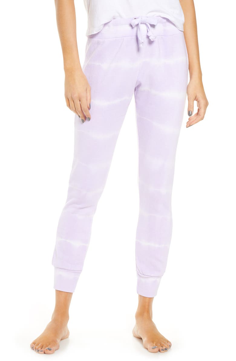VINTAGE HAVANA Tie Dye Jogger Pants, Main, color, LAVENDER