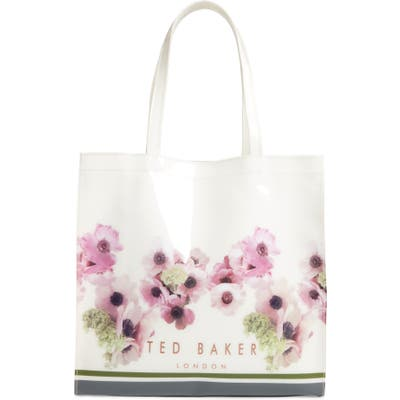 Ted Baker London Ancon Neopolitan Large Icon Tote - Ivory