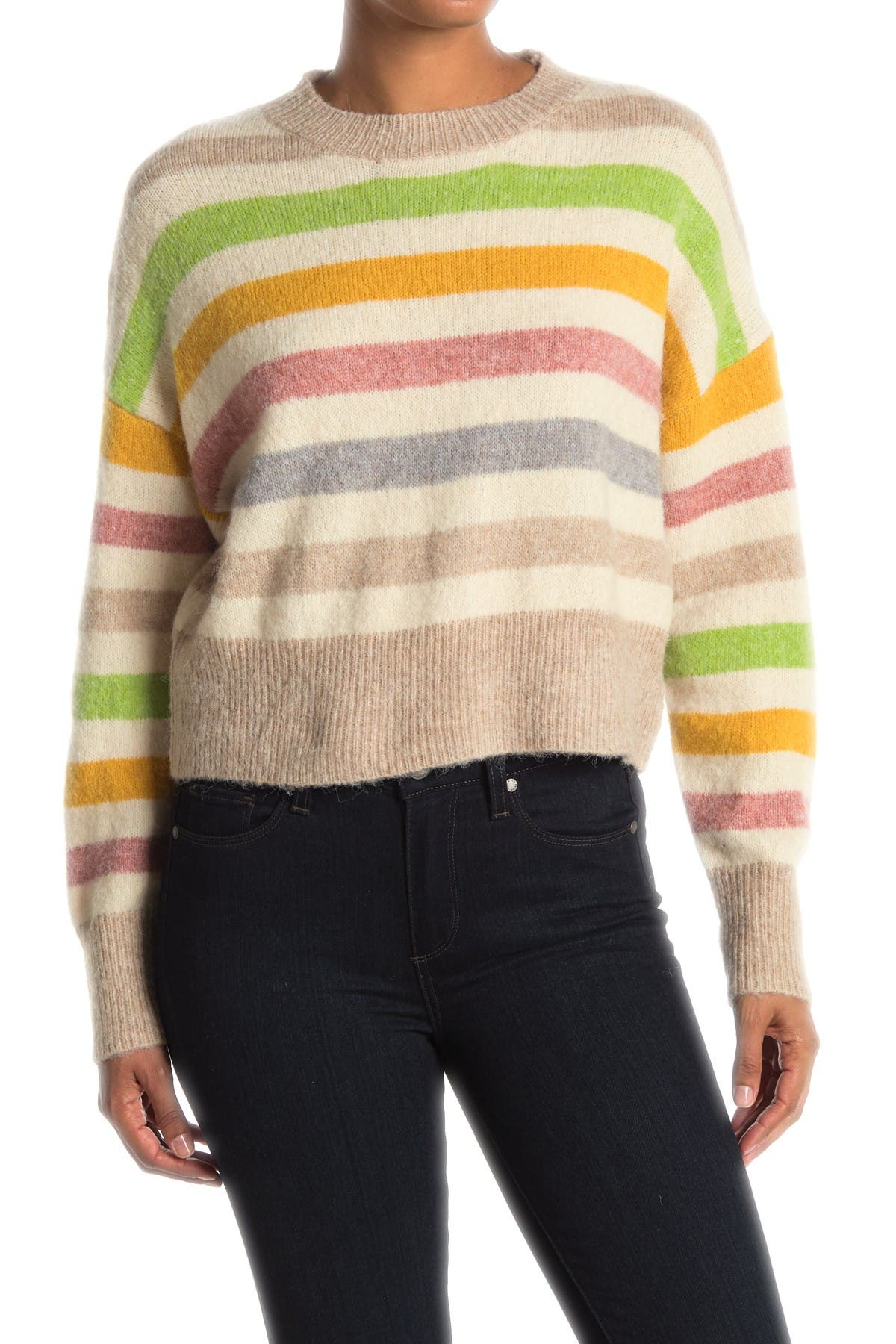 Image of Dreamers by Debut Stripe Print Sweater