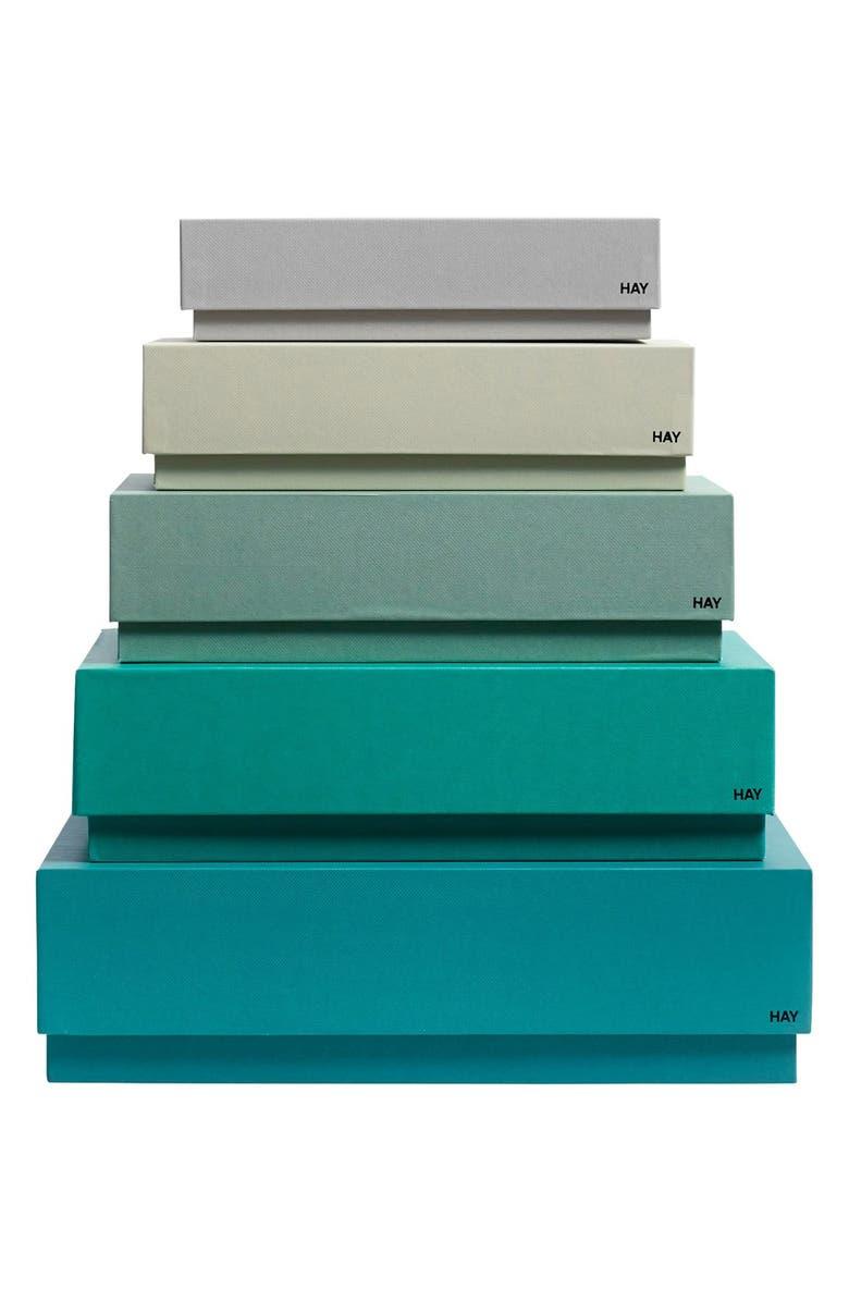 HAY 'Box Box' Storage Boxes, Main, color, 300