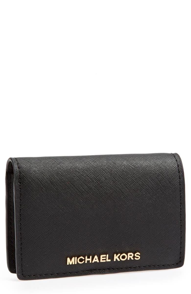 4eaf8434ed0 MICHAEL Michael Kors 'Jet Set - Slim' Saffiano Leather Wallet ...
