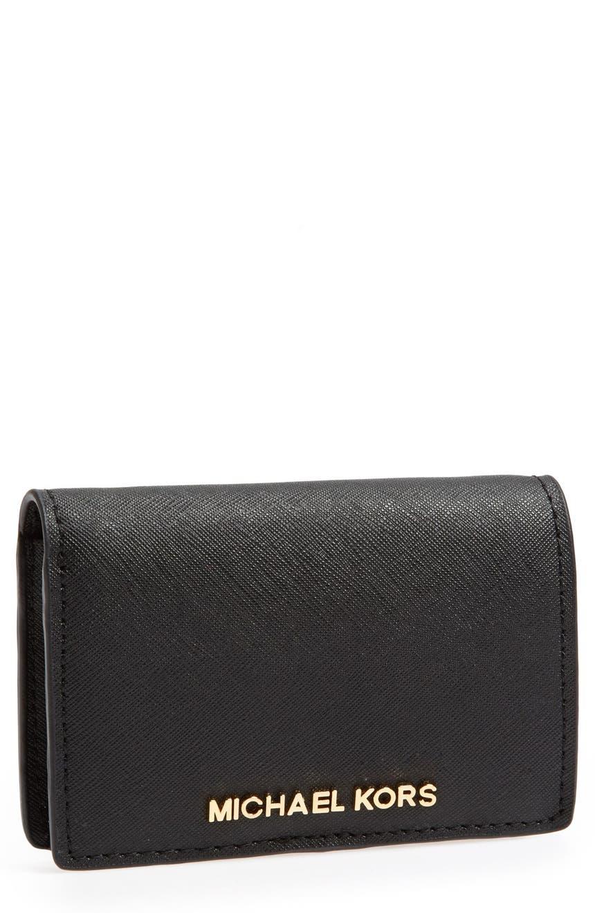 84e5fdd66a8d MICHAEL Michael Kors 'Jet Set - Slim' Saffiano Leather Wallet | Nordstrom