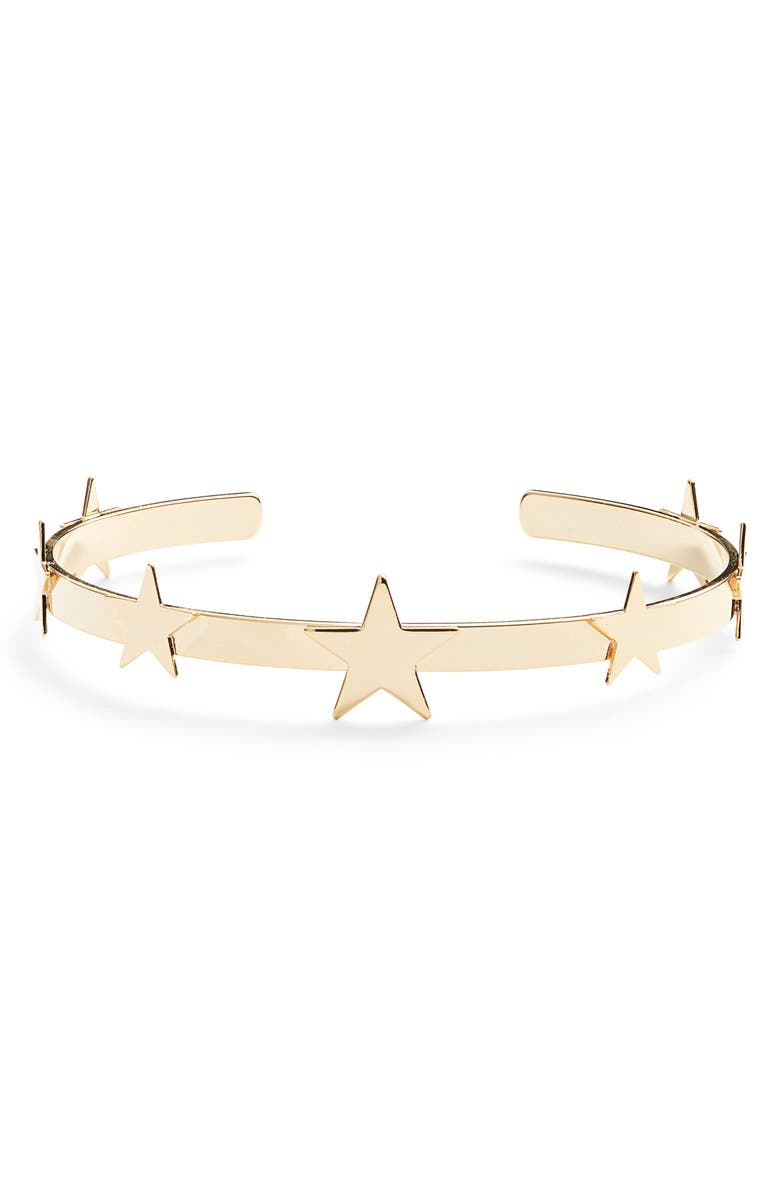 BRACHA Dallas Star Cuff Bracelet, Main, color, GOLD