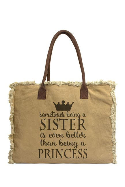 Image of Vintage Addiction Sister Canvas Tote Bag