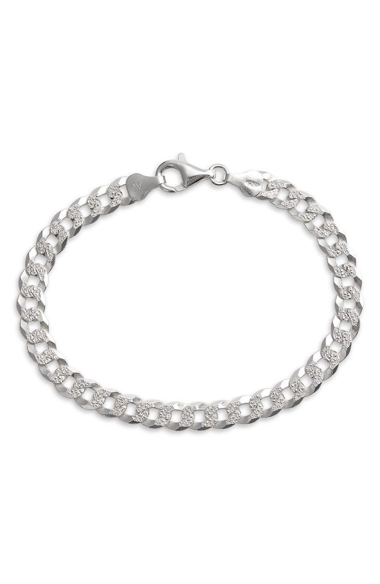 ARGENTO VIVO Curb Chain Bracelet, Main, color, SILVER