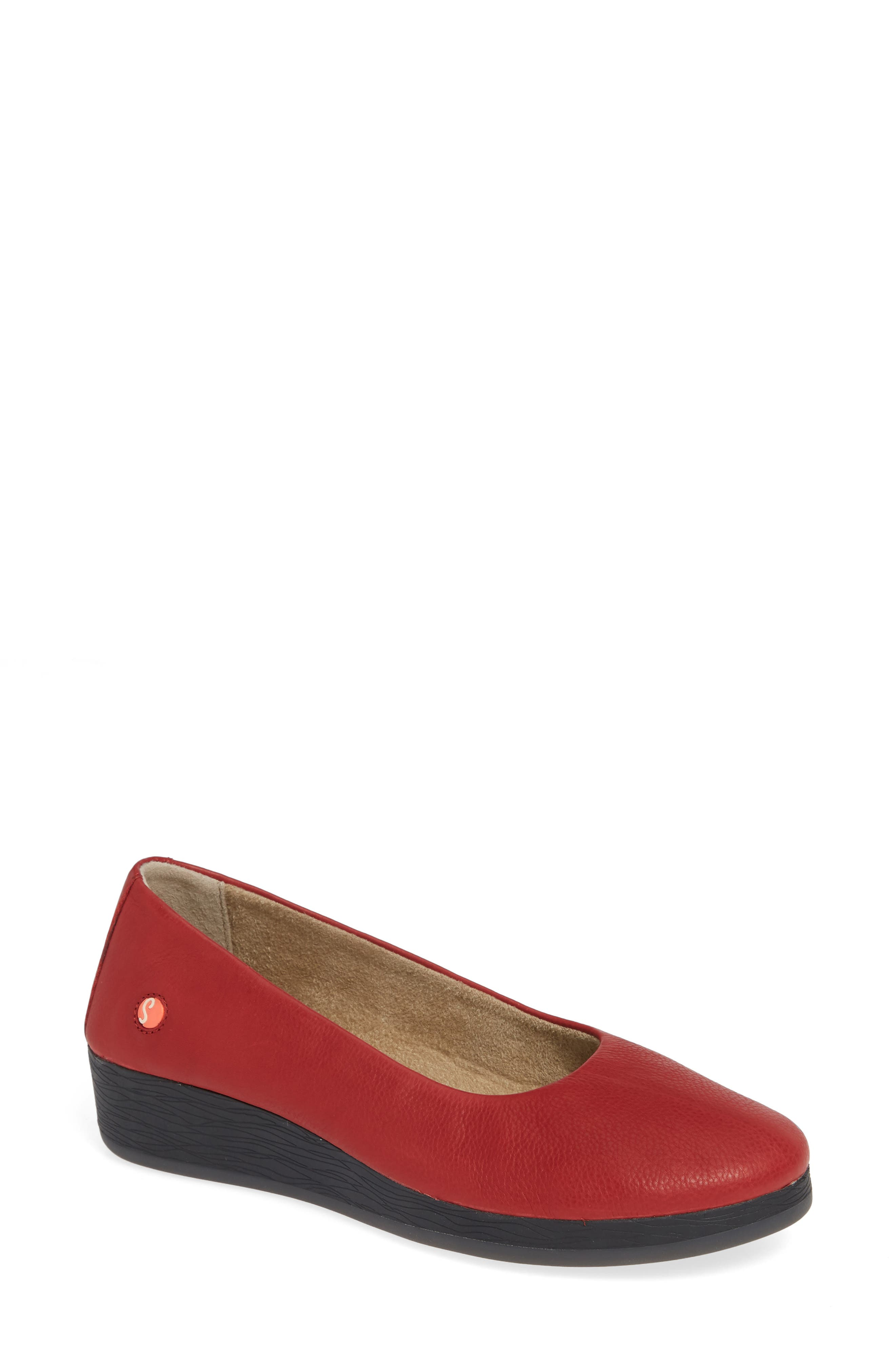 Softinos By Fly London Asa Soft Flat - Red