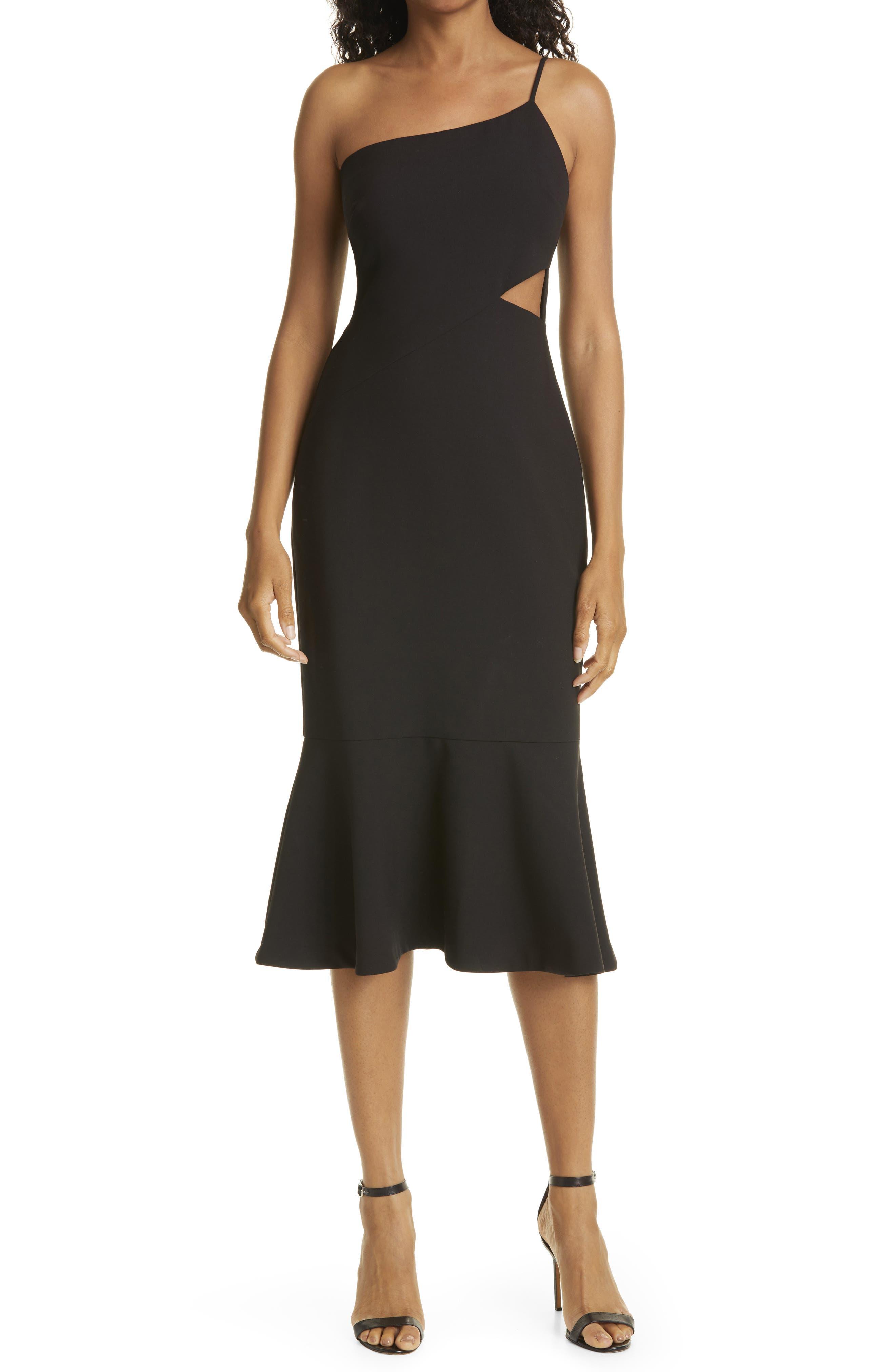 Fina Cutout One-Shoulder Dress