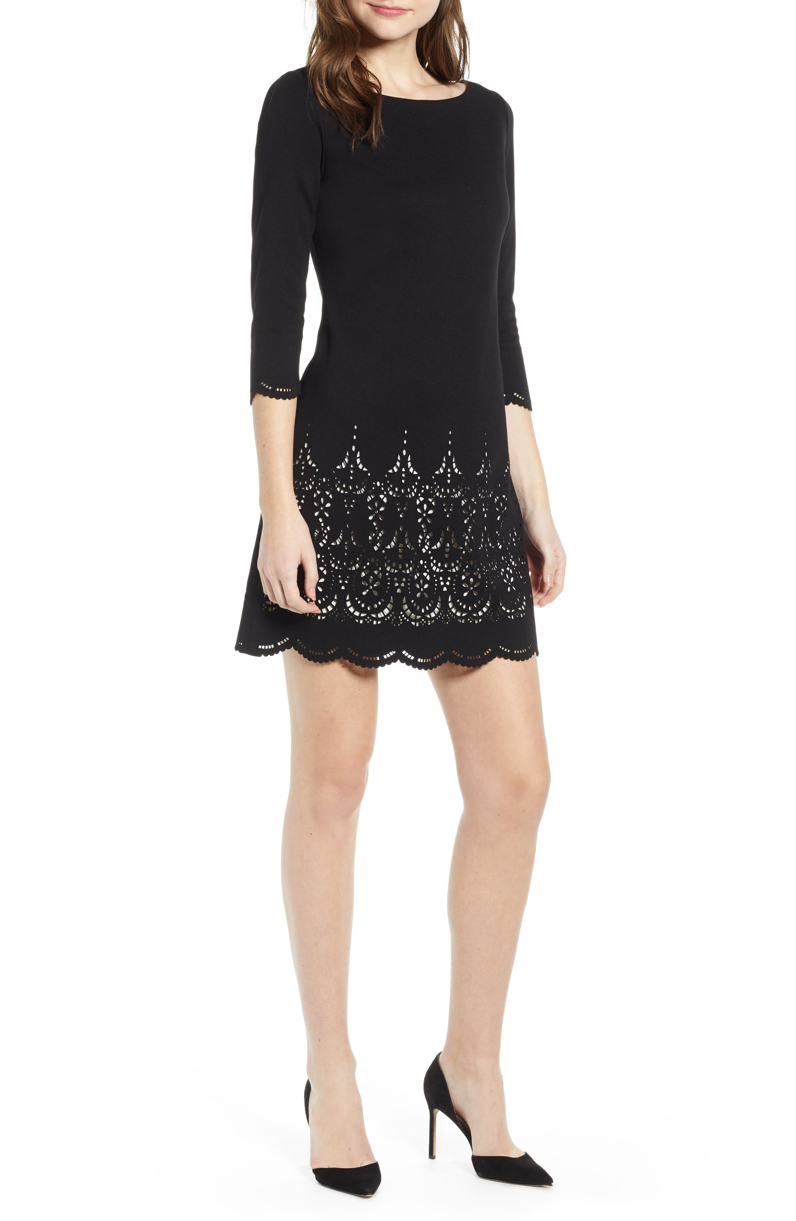 Bailey 44 Fondant Ponte Knit Dress, Black