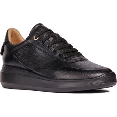 Geox Rubidia Wedge Sneaker, Black