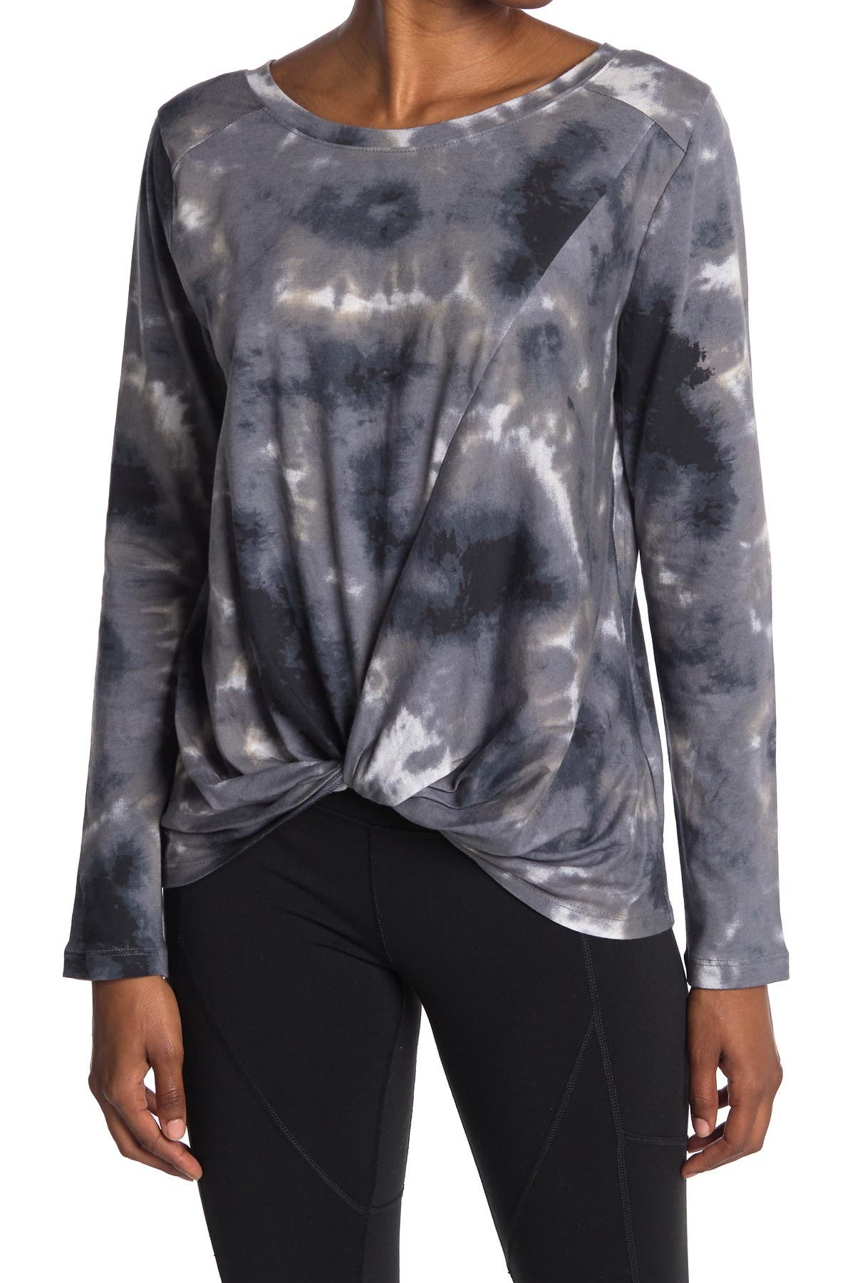 Image of Z By Zella Twisted Front Long Sleeve Tee