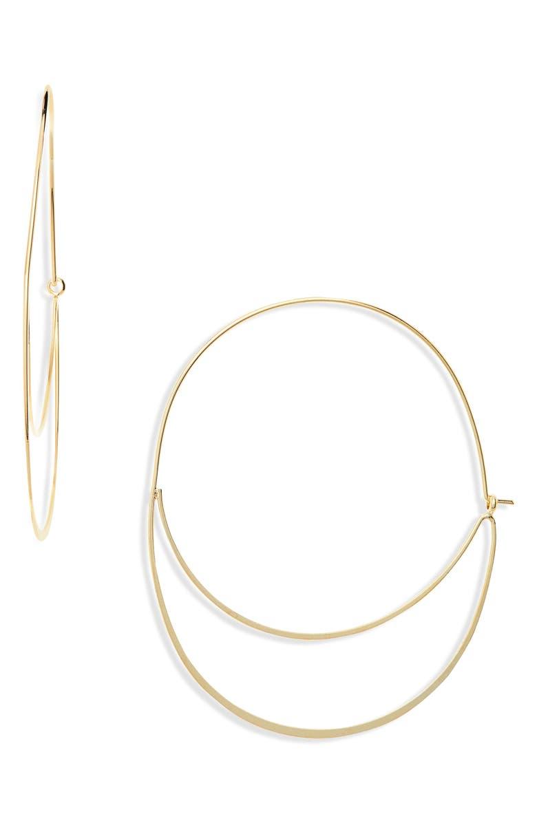 PANACEA Double Hoop Earrings, Main, color, GOLD