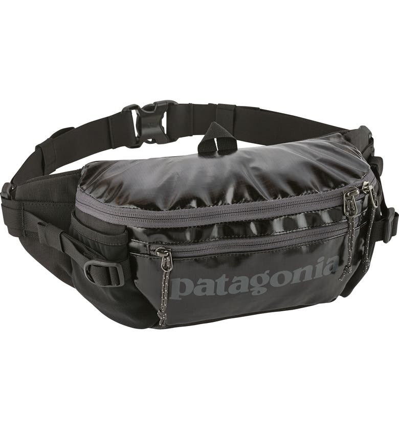 PATAGONIA Black Hole Recycled Belt Bag, Main, color, 001