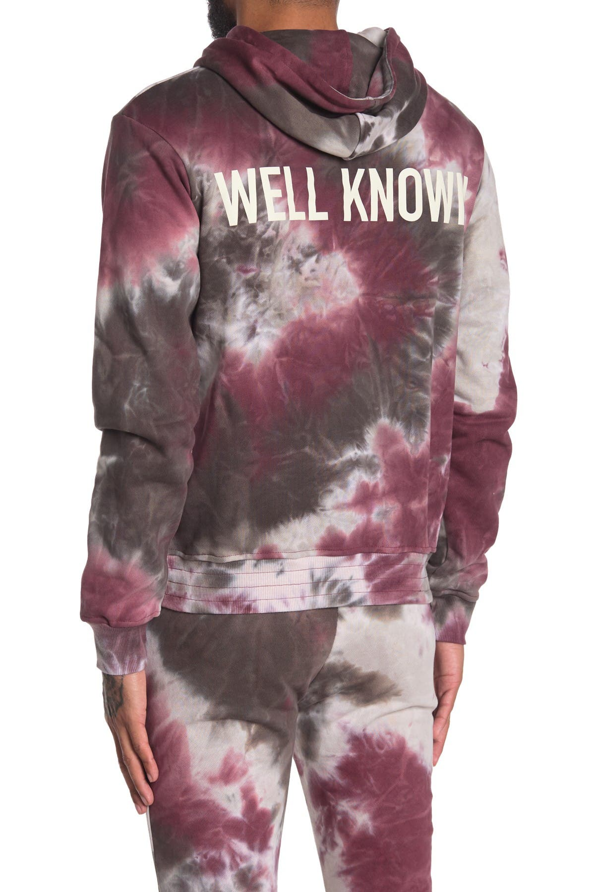 Image of Well Known Houston Tie Dye Pullover Hoodie