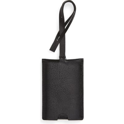 Madewell The Leather Luggage Tag - Black