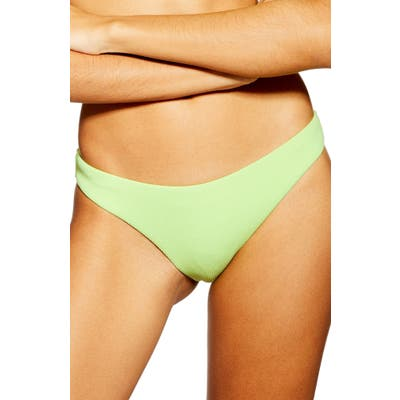 Topshop Ribbed Bikini Bottoms, US (fits like 14) - Green