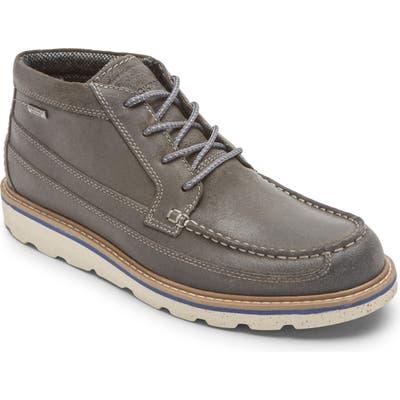 Rockport Storm Front Waterproof Moc Toe Boot, Grey