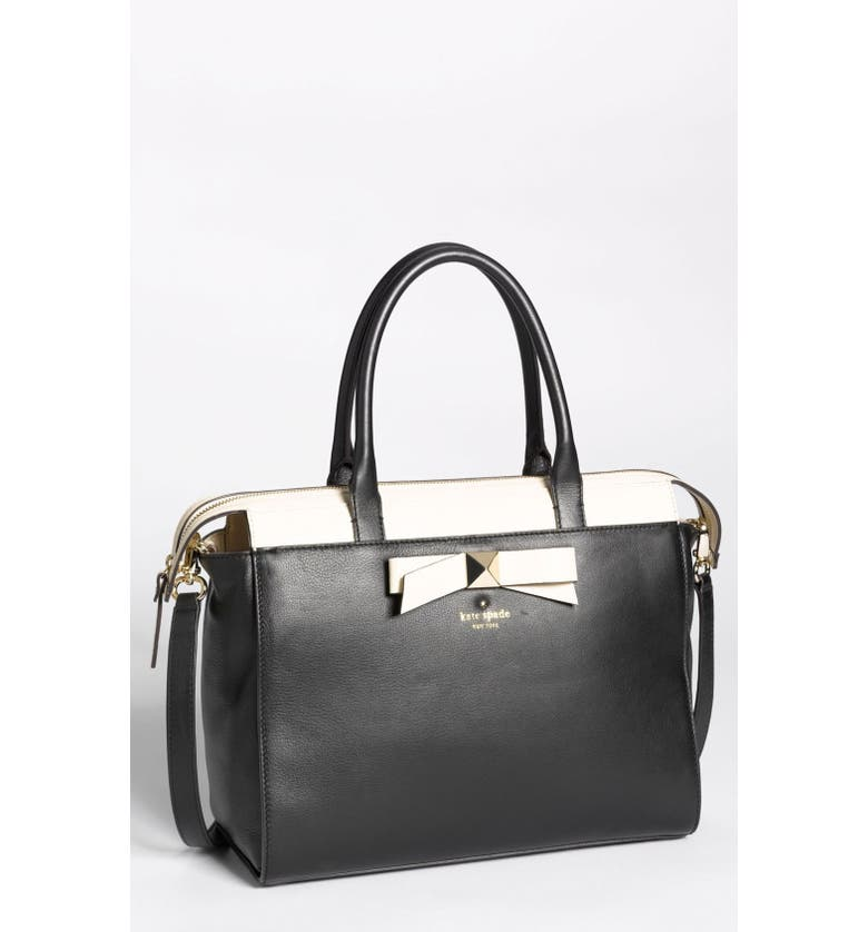 KATE SPADE NEW YORK 'hancock park - jeanne' leather satchel, medium, Main, color, 014