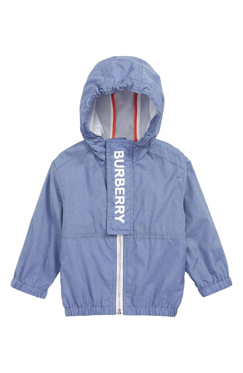 BURBERRY Austin Hooded Jacket, Main, color, SAPPHIRE BLUE