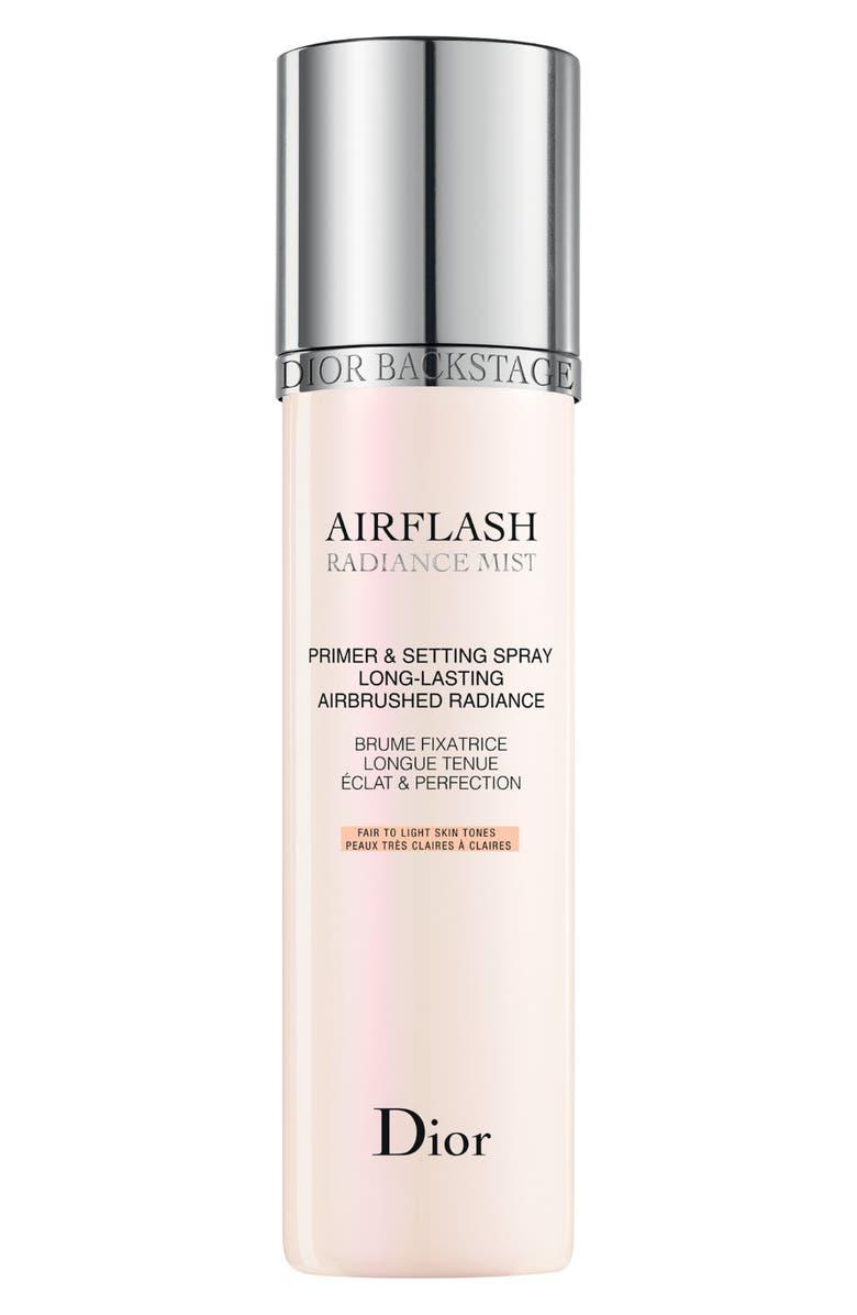 DIOR Backstage Airflash Radiance Mist Primer & Setting Spray, Main, color, 001 RADIANCE