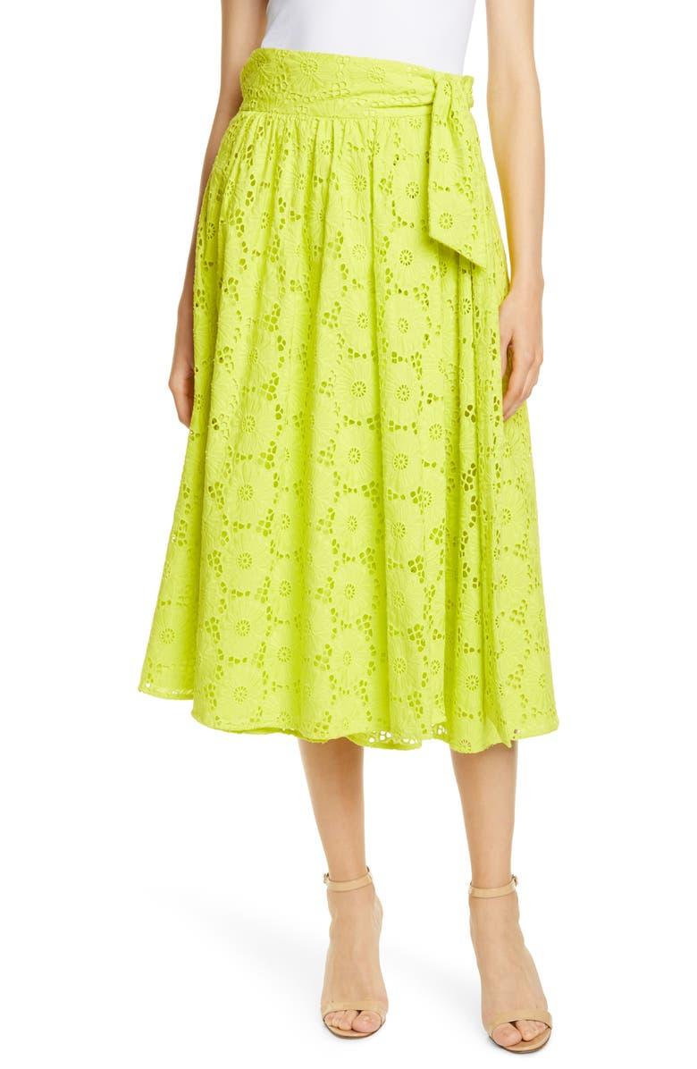 Tara Cotton Eyelet Skirt by Dvf
