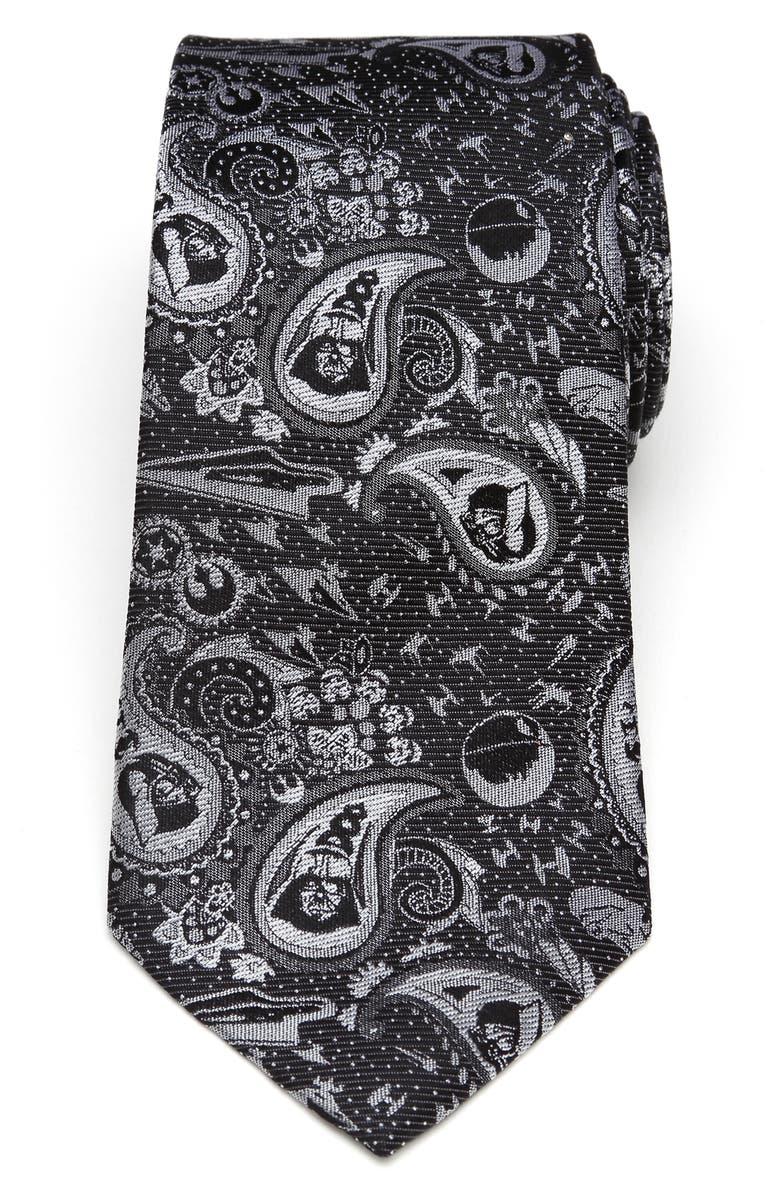 CUFFLINKS, INC. Darth Vader Paisley Silk Tie, Main, color, BLACK