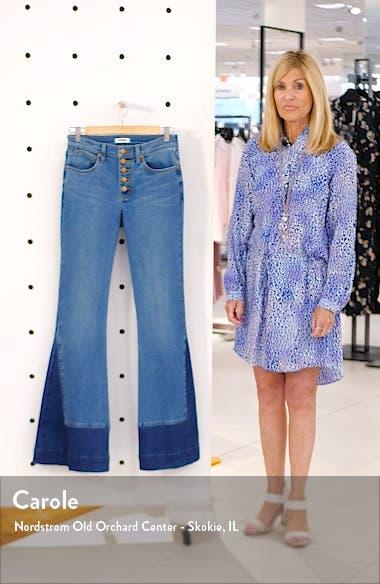 Contrast Hem High Waist Flare Jeans, sales video thumbnail