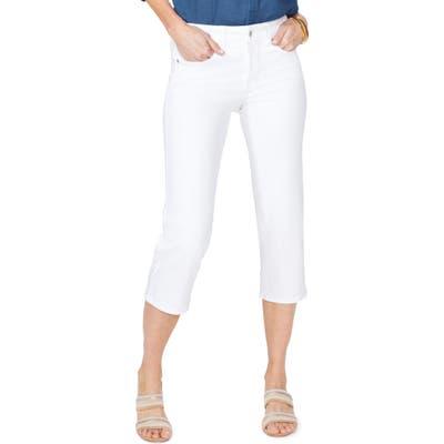 Nydj Straight Leg Capri Jeans, White