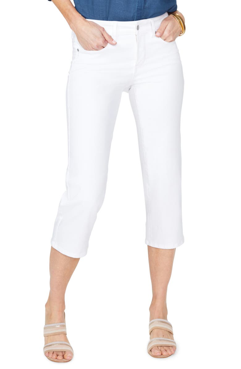 NYDJ Straight Leg Capri Jeans, Main, color, OPTIC WHITE