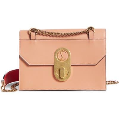 Christian Louboutin Small Elisa Calfskin Leather Shoulder Bag - Brown