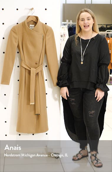 Gwynith Wool Blend Wrap Coat, sales video thumbnail