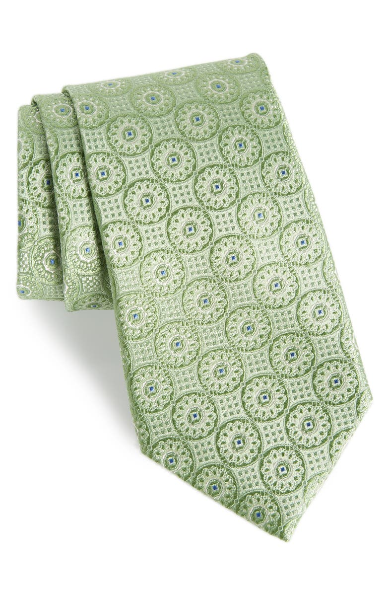 NORDSTROM MEN'S SHOP Kaymer Medallion Silk Tie, Main, color, 300
