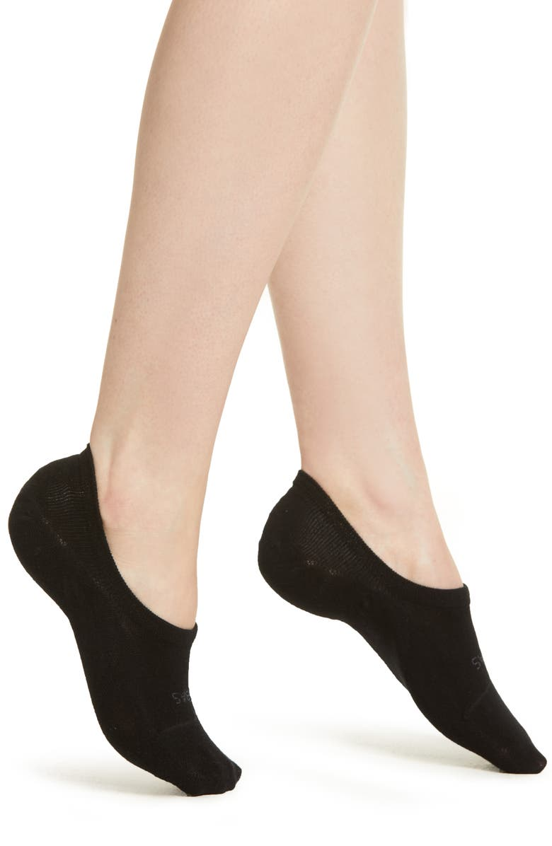 BOMBAS No-Show Socks, Main, color, BLACK