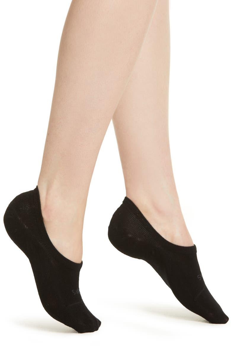 BOMBAS No-Show Socks, Main, color, BLACK