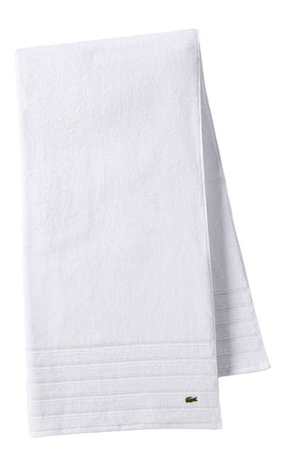 Image of Lacoste Croc Bath Towel - White