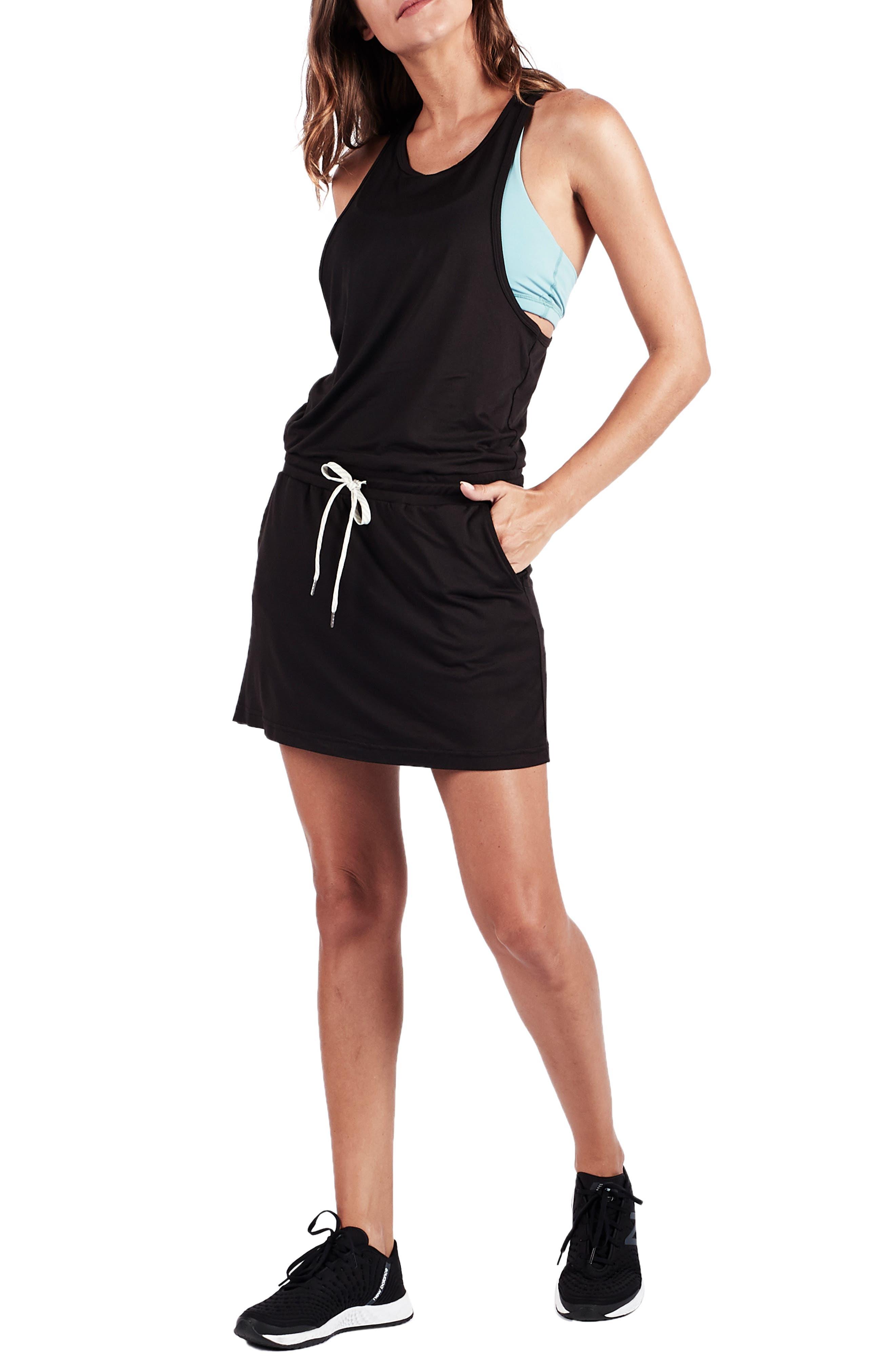 Vuori Sol Tank Dress, Black