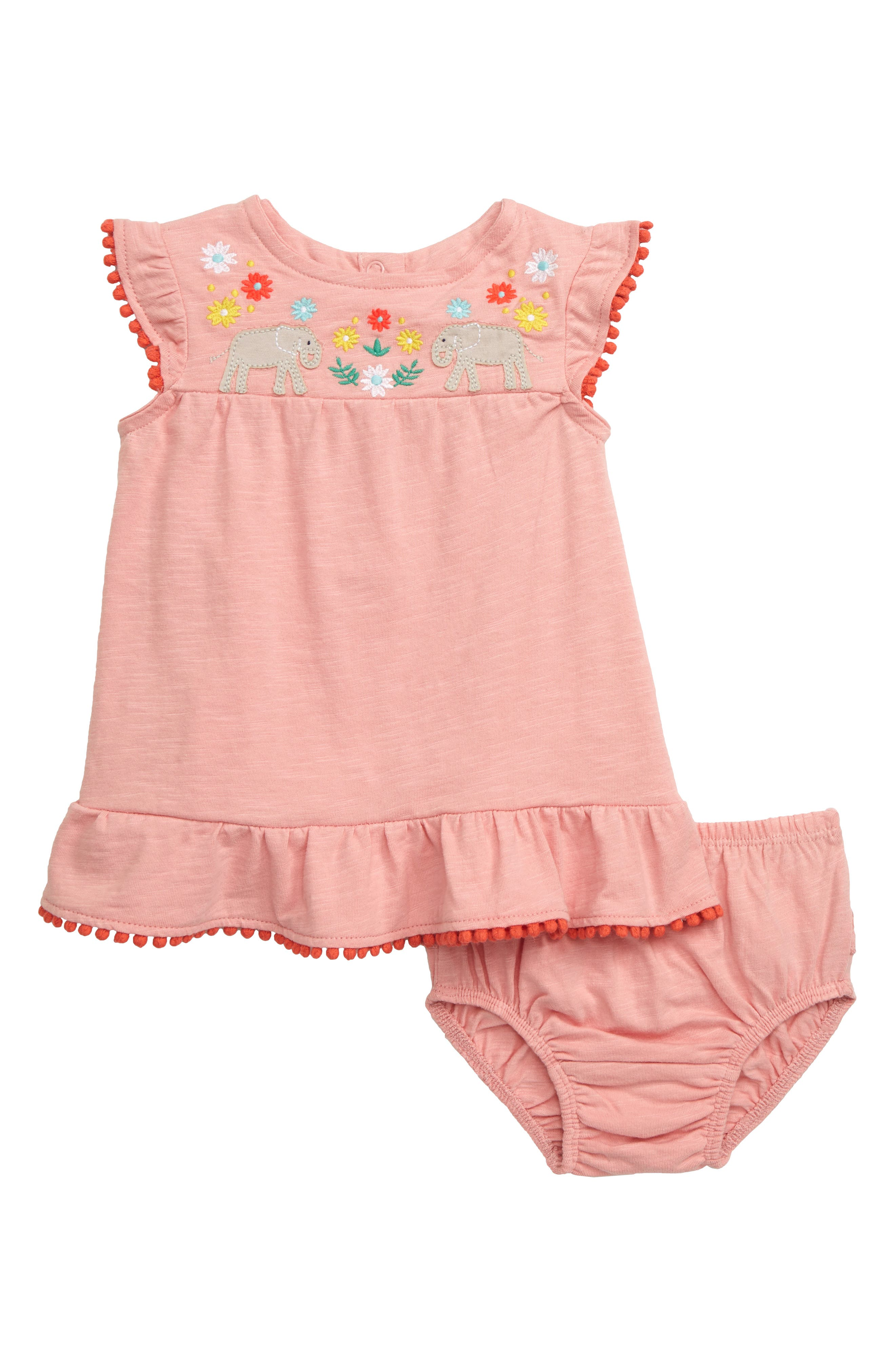 07fcf379b483 Infant Girl's Mini Boden Jungle Embroidered Elephants Dress, Pink
