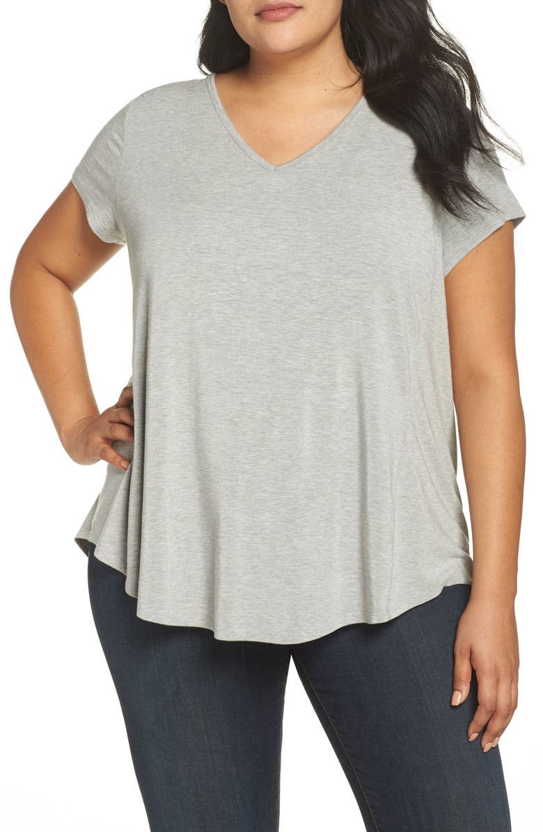 SEJOUR V-Neck Swing Tee, Main, color, 030