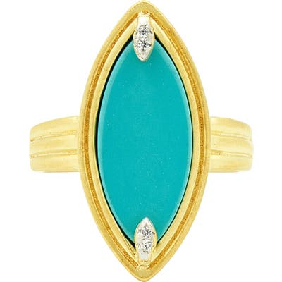 Freida Rothman Fleur Bloom Empire Turquoise Cocktail Ring