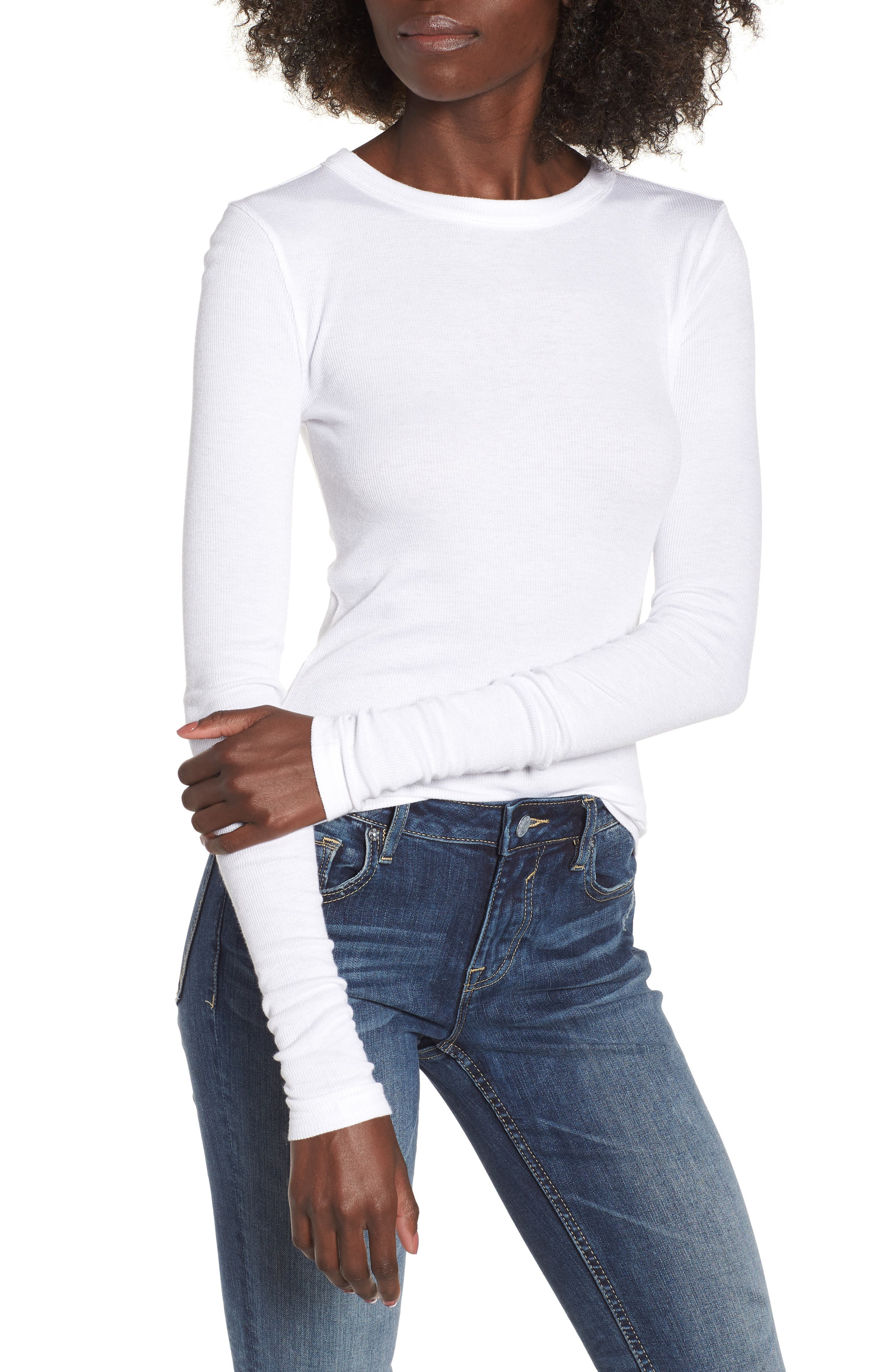 BP. Ribbed Long Sleeve Tee (Regular & Plus Size)