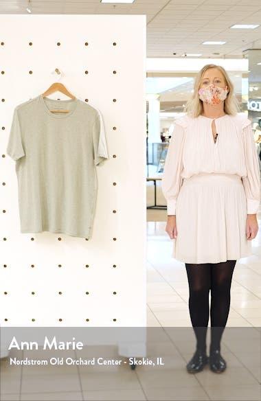 Stretch Cotton & Modal Crewneck T-Shirt, sales video thumbnail