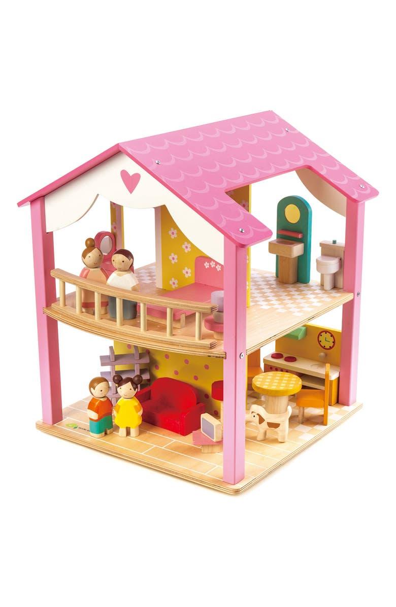 TENDER LEAF TOYS Pink Leaf Dollhouse, Main, color, PINK