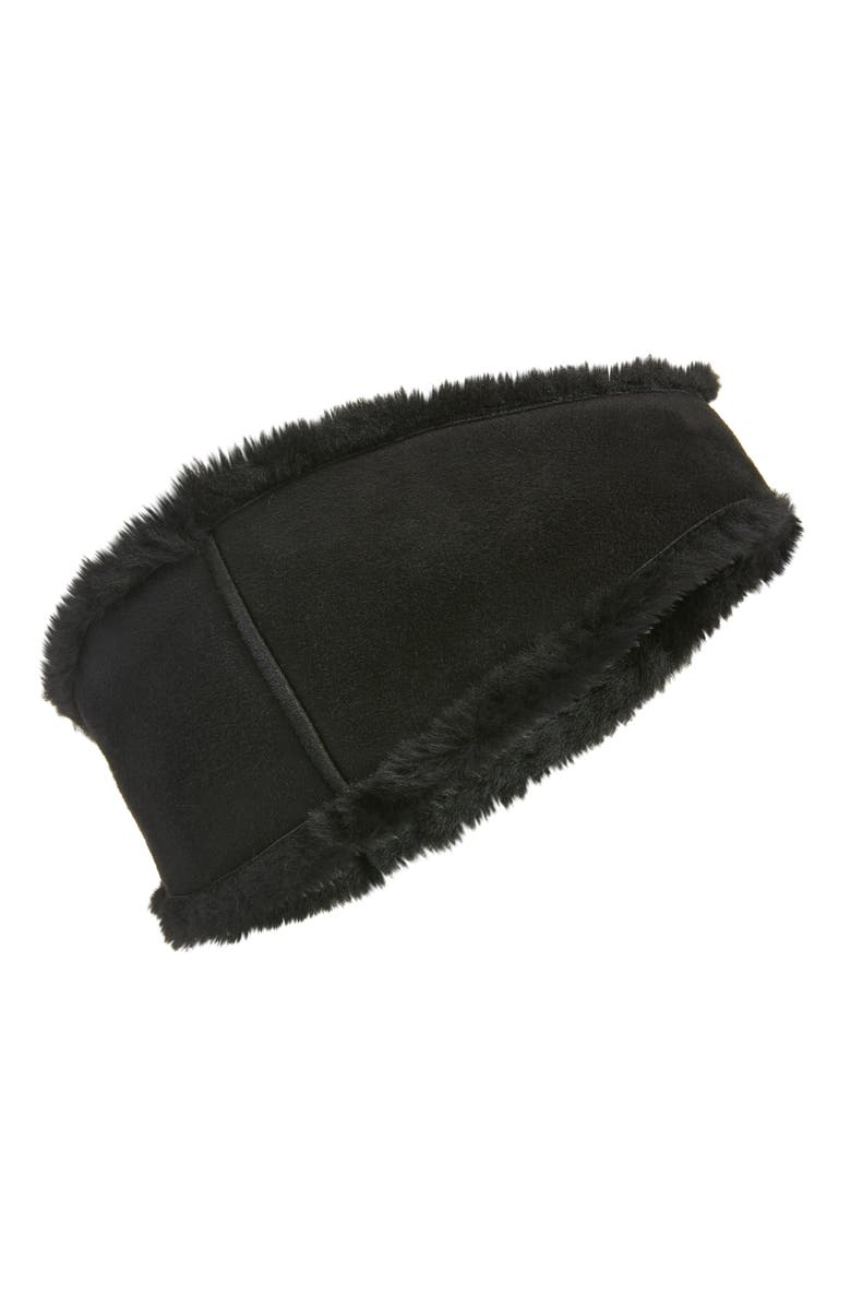 UGG<SUP>®</SUP> Genuine Shearling Headband, Main, color, BLACK