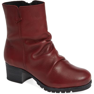 Bos. & Co. Madrid Waterproof Insulated Waterproof Waterproof Bootie - Red